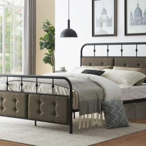 Industrial Metal Bed Frame Platform Bed