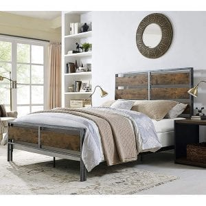 Rustic Wood/Iron Industrial Queen Bed