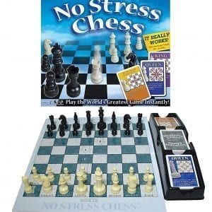 No Stress Chess Set by Winning Moves Games; board, pieces, cards