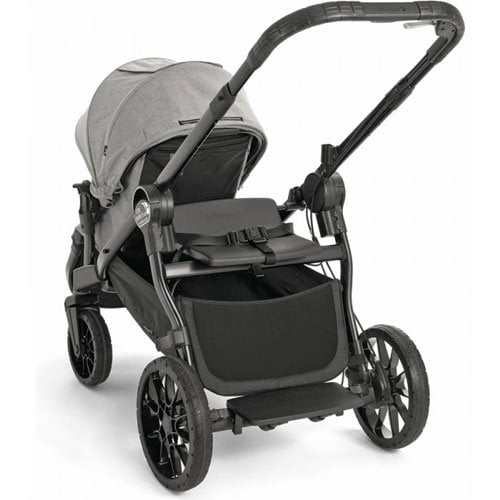 Baby Jogger City Select Lux With Second Seat Double Stroller Slate With Bench Seat