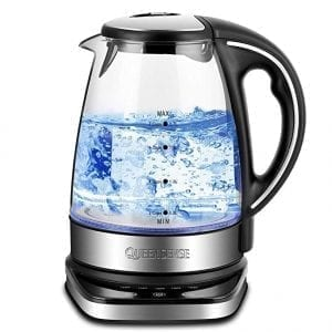 Queen Sense Glass Electric Kettles 12-Hour Stay Warm Function