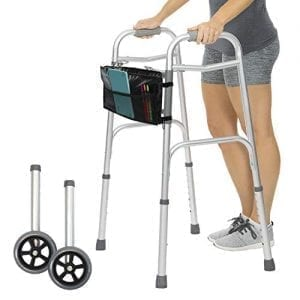 Vive Folding Walkers [Plus Bag] - Front Wheeled Support mobility walking aids