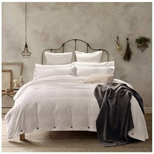 Doffapd Duvet Cover Queen, Washed Cotton