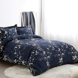 """Bedsure Duvet Covers 3 pc set Queen/Full Size Spring Bloom 90""""x 90"""""""