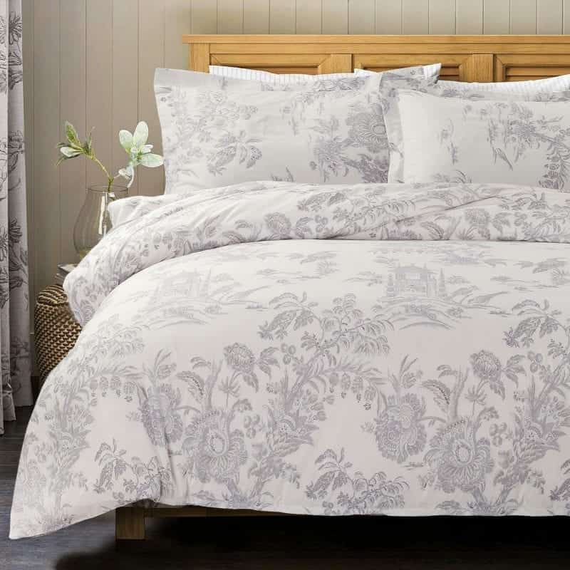 Bedsure Microfiber Duvet Covers Queen/Full Size Grey Toile